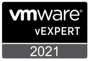 VMware vExpert 2021 Badge
