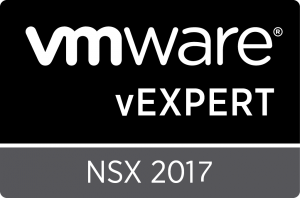 vExpert NSX 2017 Badge