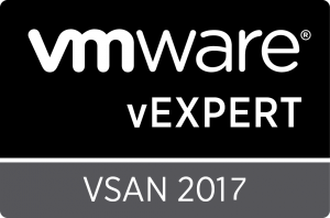 vExpert VSAN 2017 Badge