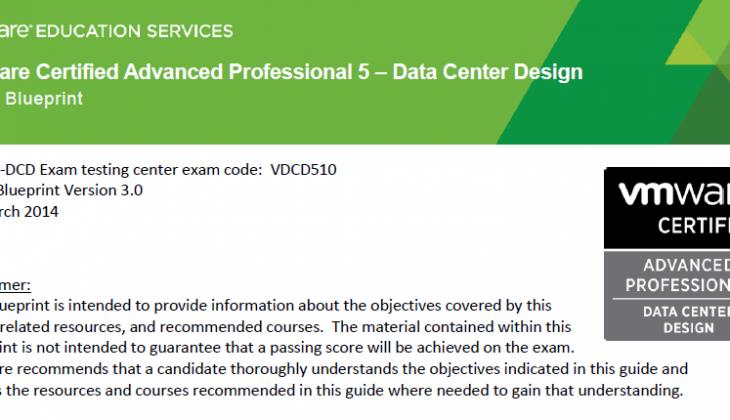 VCAP5-DCD – vSphere 5.5 Based Exam
