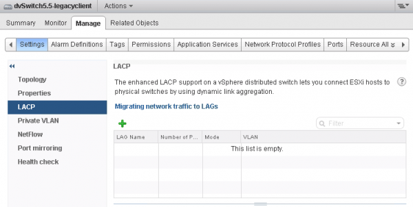 Enhanced LACP Support LAG configuration