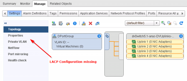 Where is the LACP configuration hidden?