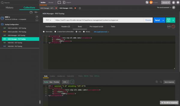 Configure Syslog via API for the NSX Manager
