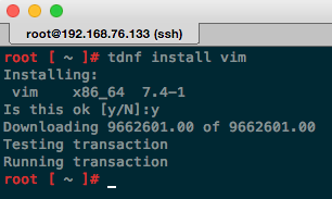 Install VIM package on Photon with tdnf