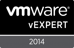 VMware vExpert 2014 Badge