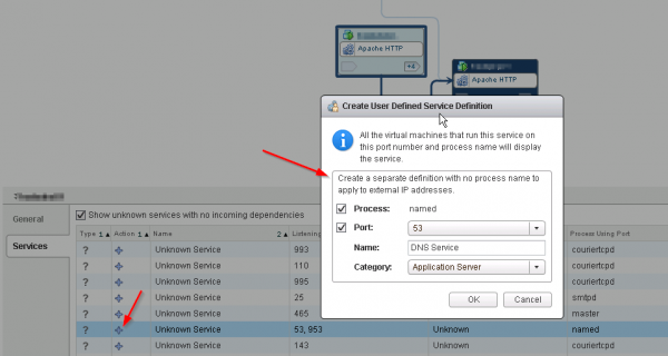 Create your own service definition in vCenter Infrastructure Navigator