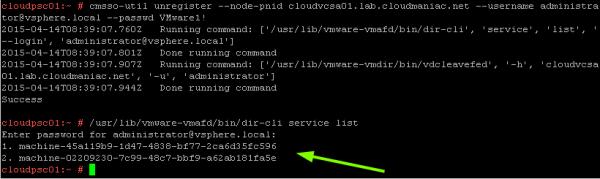 Decommission vCenter Server or Platform Service Controller