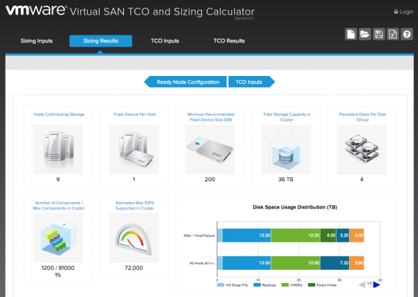 VMware Virtual SAN Sizing Tool