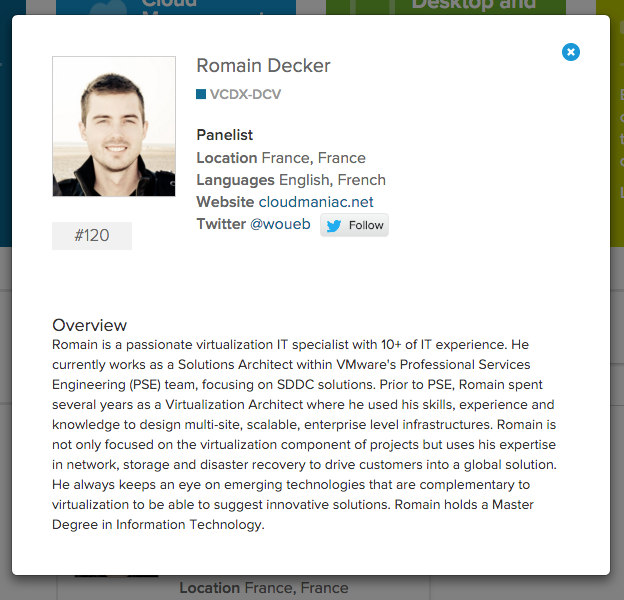 VMware new Official VCDX Directory : expert details
