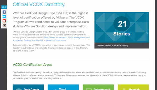 VMware new Official VCDX Directory : homepage