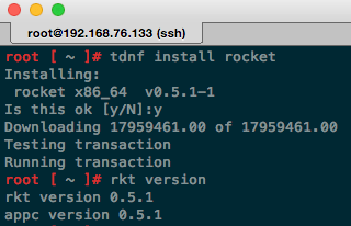 Photon: how to install rocket / rkt
