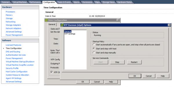 VMware vSphere NTP Configuration