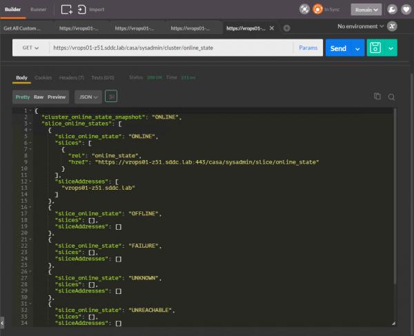 vROps CaSA API: get cluster online state per node / slice
