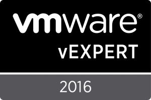 vExpert 2016 Badge