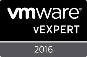 VMware vExpert 2016 Badge