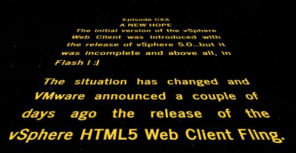 HTML5 Client for vSphere
