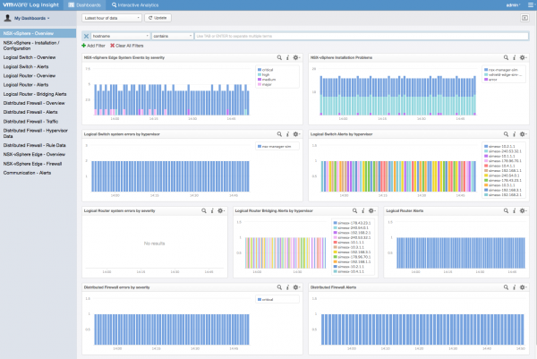 Log Insight: NSX for vSphere Content Pack