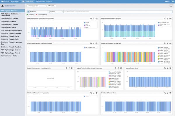 Log Insight: NSX for vSphere Content Pack