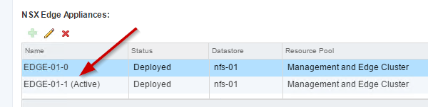 NSX Edge triggered failover: confirm switchover in the vSphere Web Client
