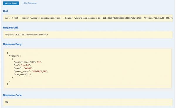 New vSphere 6.5 REST API: get all VMs example