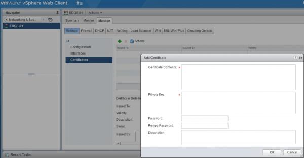 NSX Edge Services Gateway: certificates
