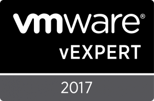 vExpert 2017 Badge