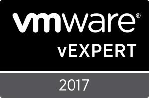 VMware vExpert 2017 Badge