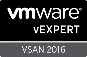 vExpert 2016 VSAN Badge