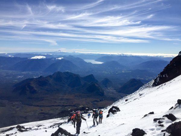 Climbing the Villarrica