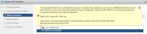 UnityVSA OVA Deployment Error with vSphere 6.5