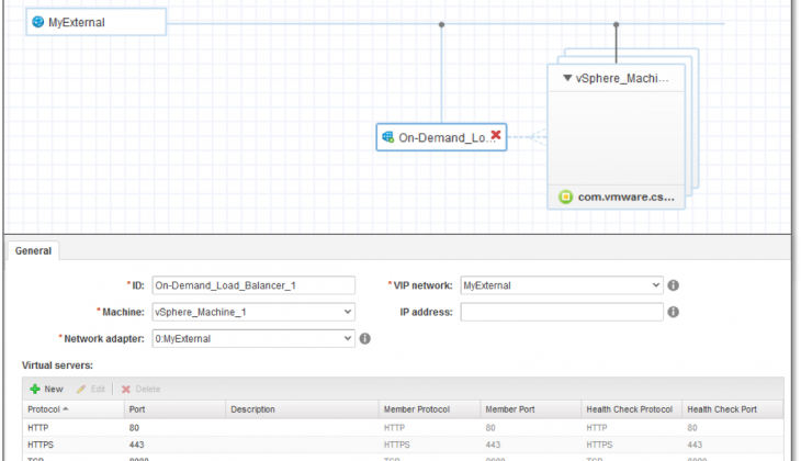 vRA 7.3: enhanced control of NSX-provisioned load balancers
