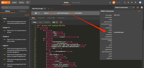 Postman Environments: variables matching with the API request