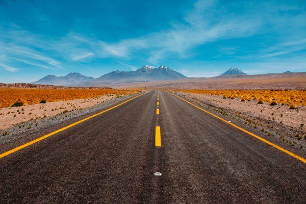 Stock: road, USA, mountains