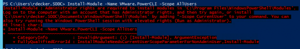 PowerShell Gallery: Install-Module requires Administrator rights