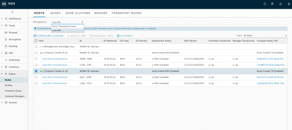 NSX-T Hosts Managed by a Compute Manager