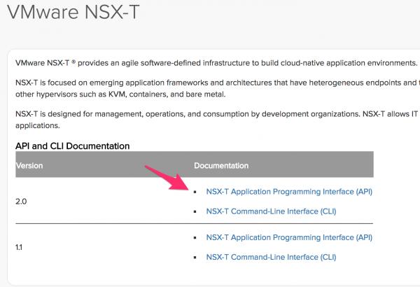 VMware NSX-T Documentation