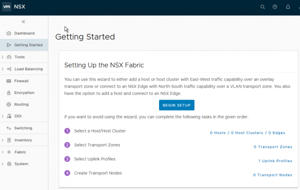 NSX-T 2.1.0 Getting Started