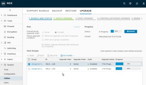 NSX-T 2.1.0 Upgrade Coordinator