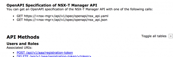 NSX-T 2.0 API Documentation: OpenAPI Specification