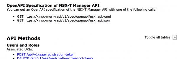 NSX-T 2.0 API Documentation: OpenAPI Specification