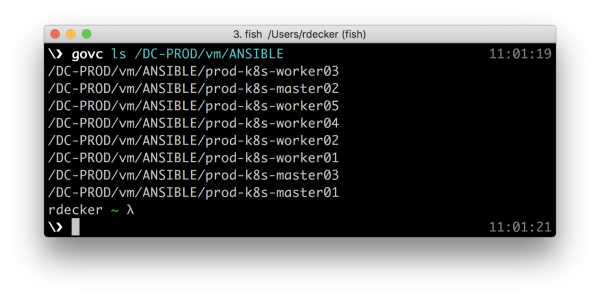 Ansible: successfull deployment of 8 VMs on vSphere