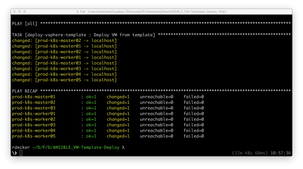 Deploy multiple VMs from a template with Ansible