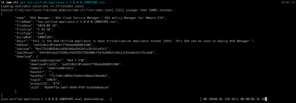 Download VMware product binaries using vmw-cli