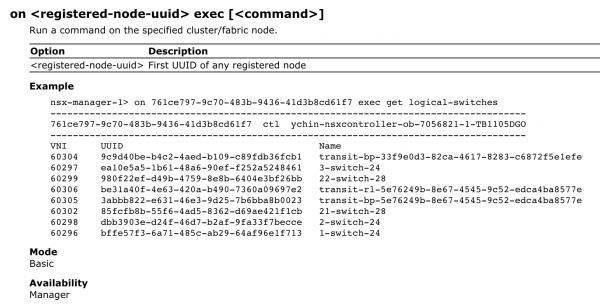 NSX-T Central CLI Documentation
