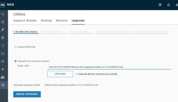 NSX-T Upgrade Coordinator: Upload .mub File