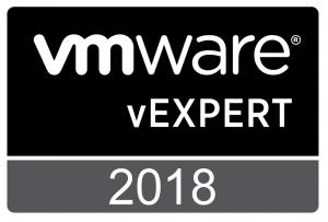 VMware vExpert 2018 Badge