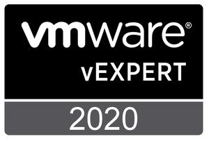 VMware vExpert 2020 Badge